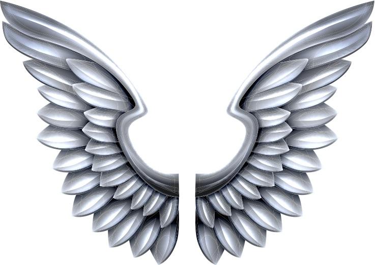 metallic-angel-wings