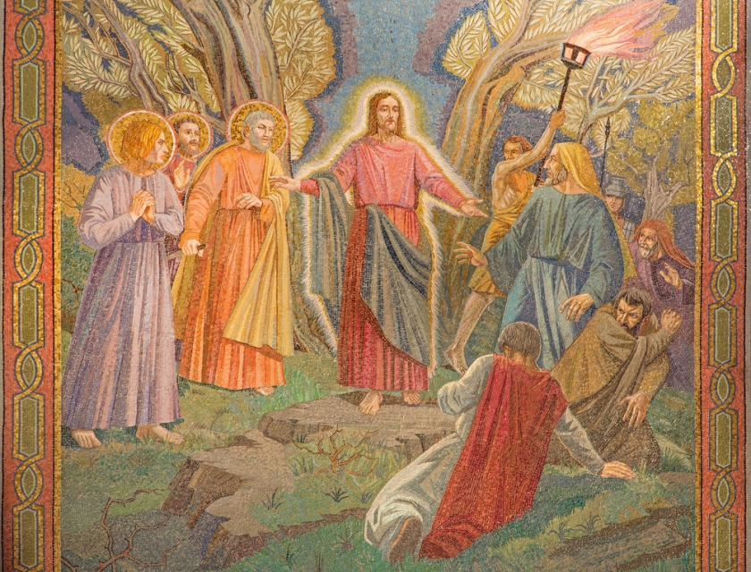 Jesus' Arrest Mosaic